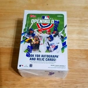2021 Topps opening day blaster box- 77 cards
